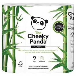 The Cheeky Panda Toilettenpapier, 100Prozent Bambus, weich, hautfreundlich, Super Saugfähig, keine scharfen Chemikalien - 1